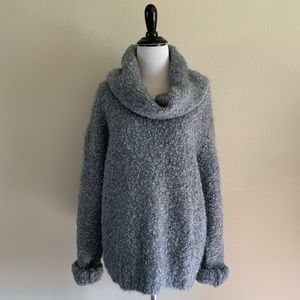 Express Mohair Wool Grey Chunky Knit Sweater Large